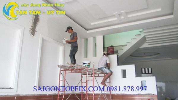 sơn tường nhà giá rẻ bình dương
