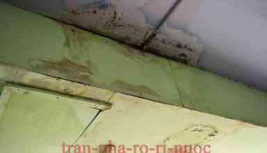 trần nhà rò rỉ nước